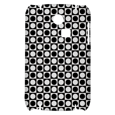 Modern Dots In Squares Mosaic Black White Samsung S3350 Hardshell Case