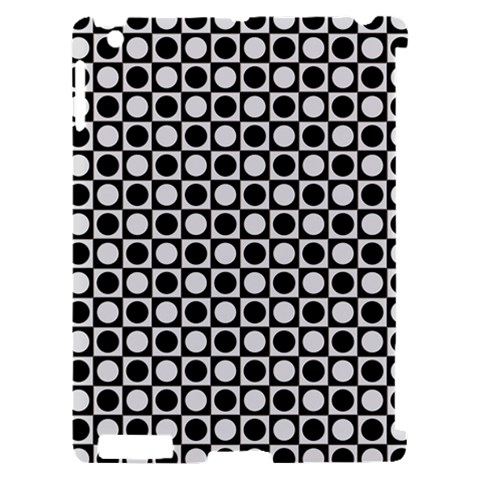 Modern Dots In Squares Mosaic Black White Apple iPad 2 Hardshell Case (Compatible with Smart Cover)