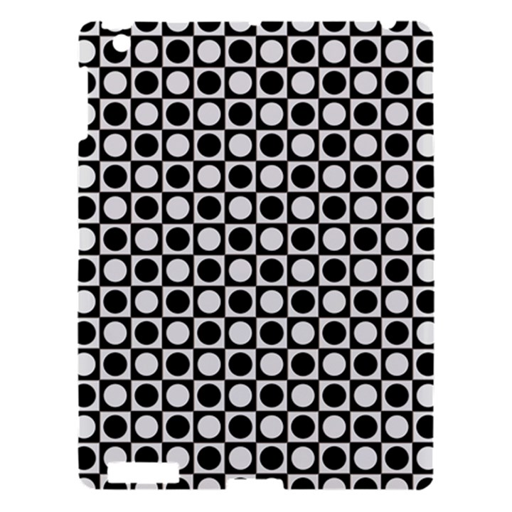 Modern Dots In Squares Mosaic Black White Apple iPad 3/4 Hardshell Case
