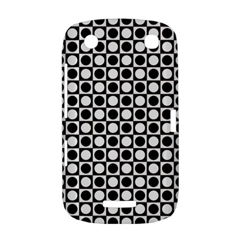 Modern Dots In Squares Mosaic Black White BlackBerry Curve 9380