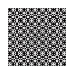 Modern Dots In Squares Mosaic Black White Acrylic Tangram Puzzle (6  x 6 ) Front