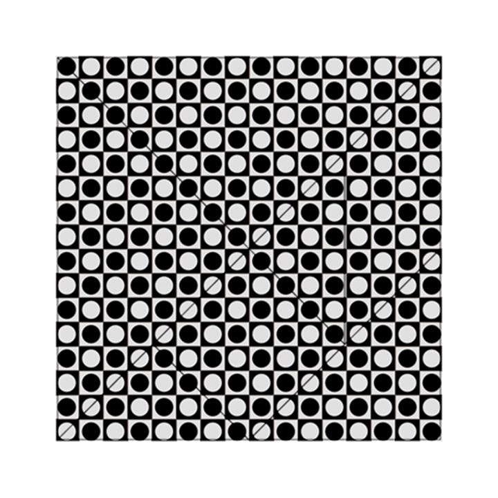 Modern Dots In Squares Mosaic Black White Acrylic Tangram Puzzle (6  x 6 )