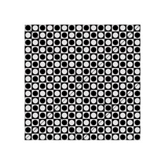 Modern Dots In Squares Mosaic Black White Acrylic Tangram Puzzle (4  x 4 )