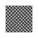 Modern Dots In Squares Mosaic Black White Acrylic Tangram Puzzle (4  x 4 ) Front