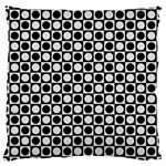 Modern Dots In Squares Mosaic Black White Large Cushion Case (Two Sides) Front