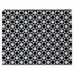 Modern Dots In Squares Mosaic Black White Cosmetic Bag (XXXL)  Front
