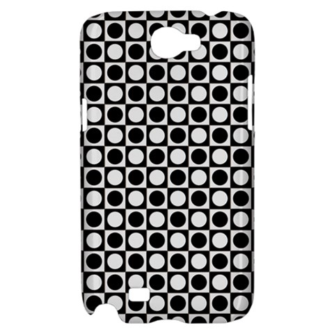 Modern Dots In Squares Mosaic Black White Samsung Galaxy Note 2 Hardshell Case