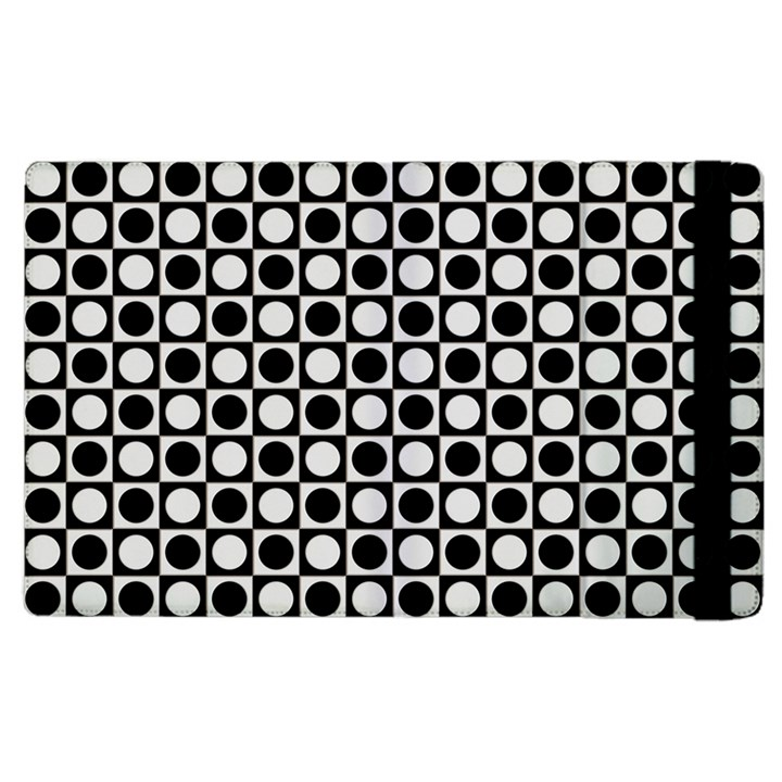 Modern Dots In Squares Mosaic Black White Apple iPad 3/4 Flip Case