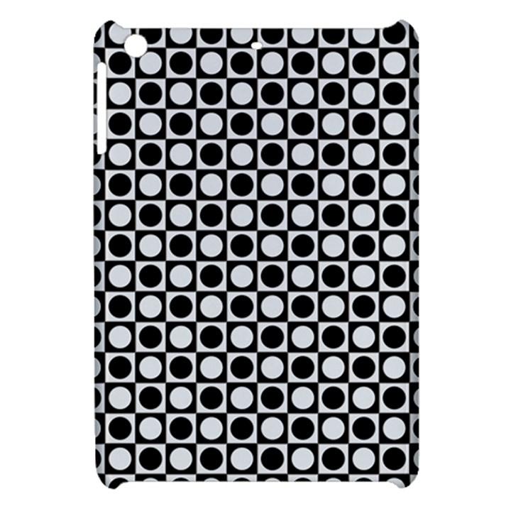 Modern Dots In Squares Mosaic Black White Apple iPad Mini Hardshell Case