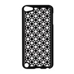 Modern Dots In Squares Mosaic Black White Apple iPod Touch 5 Case (Black) Front