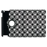 Modern Dots In Squares Mosaic Black White Apple iPad 2 Flip 360 Case Front