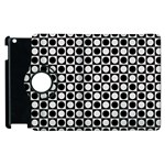 Modern Dots In Squares Mosaic Black White Apple iPad 3/4 Flip 360 Case Front
