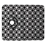 Modern Dots In Squares Mosaic Black White Samsung Galaxy Note II Flip 360 Case Front