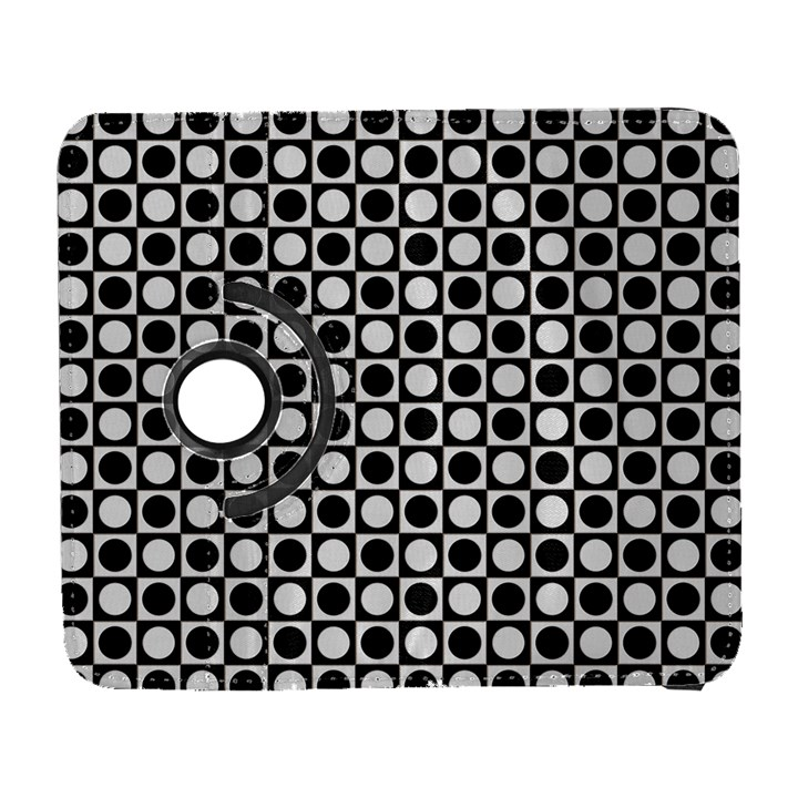 Modern Dots In Squares Mosaic Black White Samsung Galaxy S  III Flip 360 Case