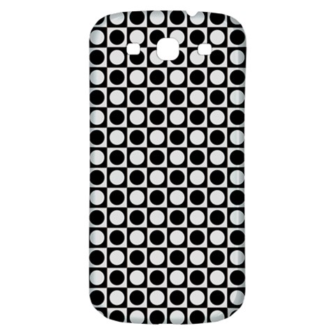 Modern Dots In Squares Mosaic Black White Samsung Galaxy S3 S III Classic Hardshell Back Case