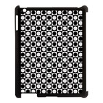 Modern Dots In Squares Mosaic Black White Apple iPad 3/4 Case (Black) Front