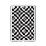 Modern Dots In Squares Mosaic Black White iPad Mini 2 Enamel Coated Cases Front