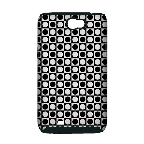 Modern Dots In Squares Mosaic Black White Samsung Galaxy Note 2 Hardshell Case (PC+Silicone)