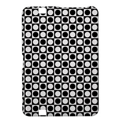 Modern Dots In Squares Mosaic Black White Kindle Fire Hd 8 9