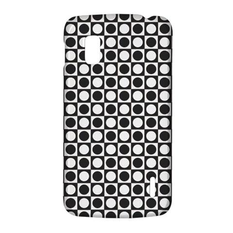 Modern Dots In Squares Mosaic Black White LG Nexus 4