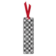 Modern Dots In Squares Mosaic Black White Small Book Marks