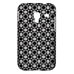 Modern Dots In Squares Mosaic Black White Samsung Galaxy Ace Plus S7500 Hardshell Case
