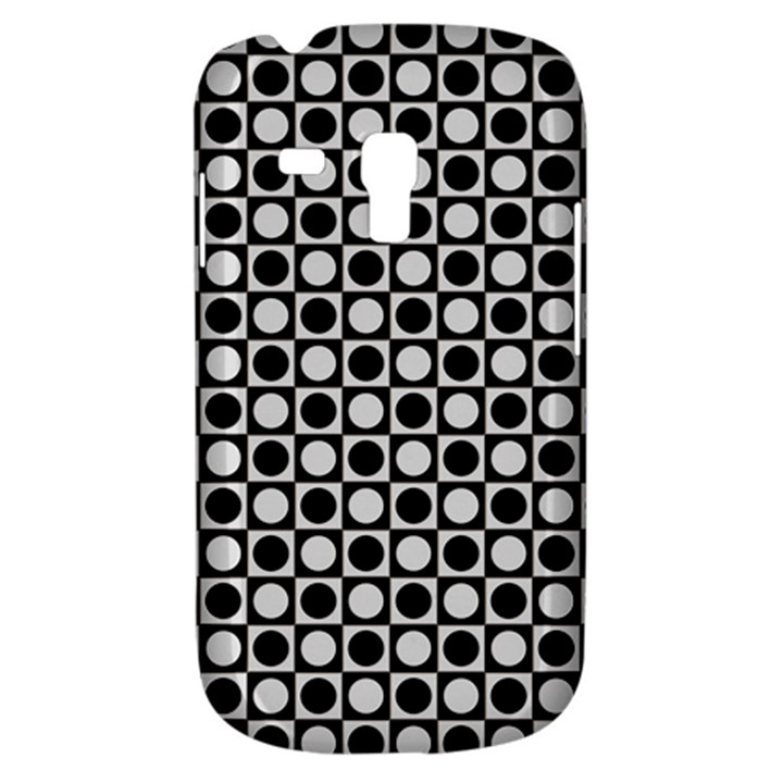 Modern Dots In Squares Mosaic Black White Samsung Galaxy S3 MINI I8190 Hardshell Case
