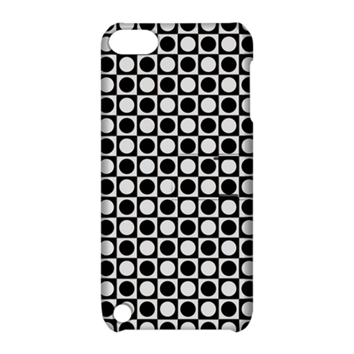 Modern Dots In Squares Mosaic Black White Apple iPod Touch 5 Hardshell Case with Stand