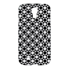 Modern Dots In Squares Mosaic Black White Samsung Galaxy S4 I9500/I9505 Hardshell Case