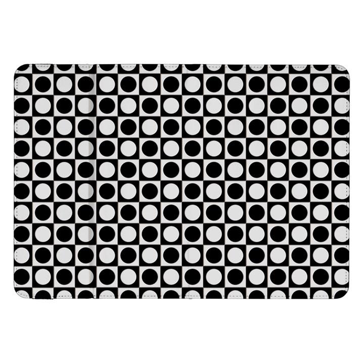 Modern Dots In Squares Mosaic Black White Samsung Galaxy Tab 8.9  P7300 Flip Case