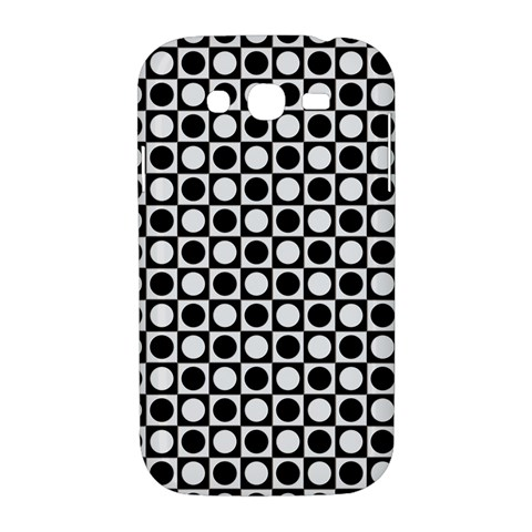 Modern Dots In Squares Mosaic Black White Samsung Galaxy Grand DUOS I9082 Hardshell Case