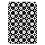 Modern Dots In Squares Mosaic Black White Flap Covers (L)  Front