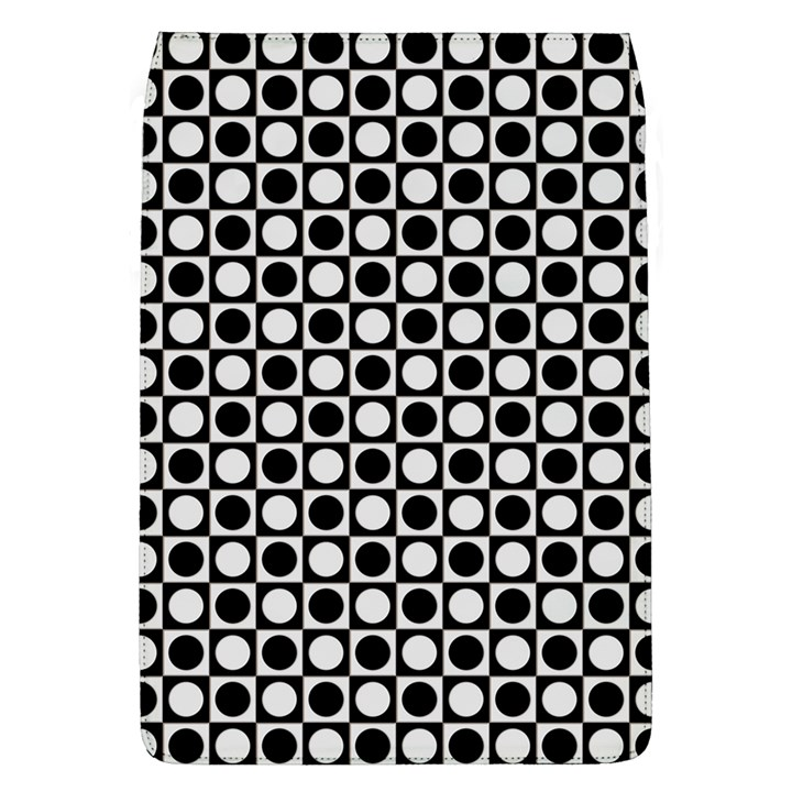 Modern Dots In Squares Mosaic Black White Flap Covers (L)