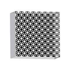 Modern Dots In Squares Mosaic Black White 4 x 4  Acrylic Photo Blocks