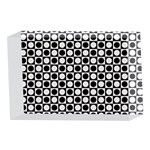 Modern Dots In Squares Mosaic Black White 4 x 6  Acrylic Photo Blocks Front