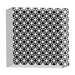 Modern Dots In Squares Mosaic Black White 5  x 5  Acrylic Photo Blocks Front
