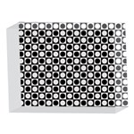 Modern Dots In Squares Mosaic Black White 5 x 7  Acrylic Photo Blocks Front