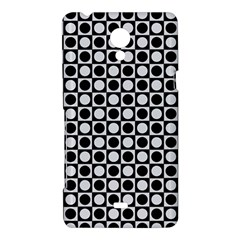 Modern Dots In Squares Mosaic Black White Sony Xperia T