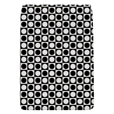Modern Dots In Squares Mosaic Black White Flap Covers (S)