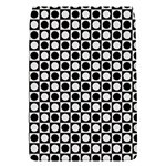 Modern Dots In Squares Mosaic Black White Flap Covers (S)  Front
