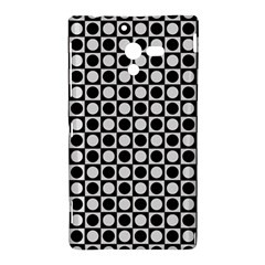 Modern Dots In Squares Mosaic Black White Sony Xperia ZL (L35H)