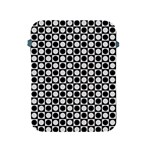 Modern Dots In Squares Mosaic Black White Apple iPad 2/3/4 Protective Soft Cases Front