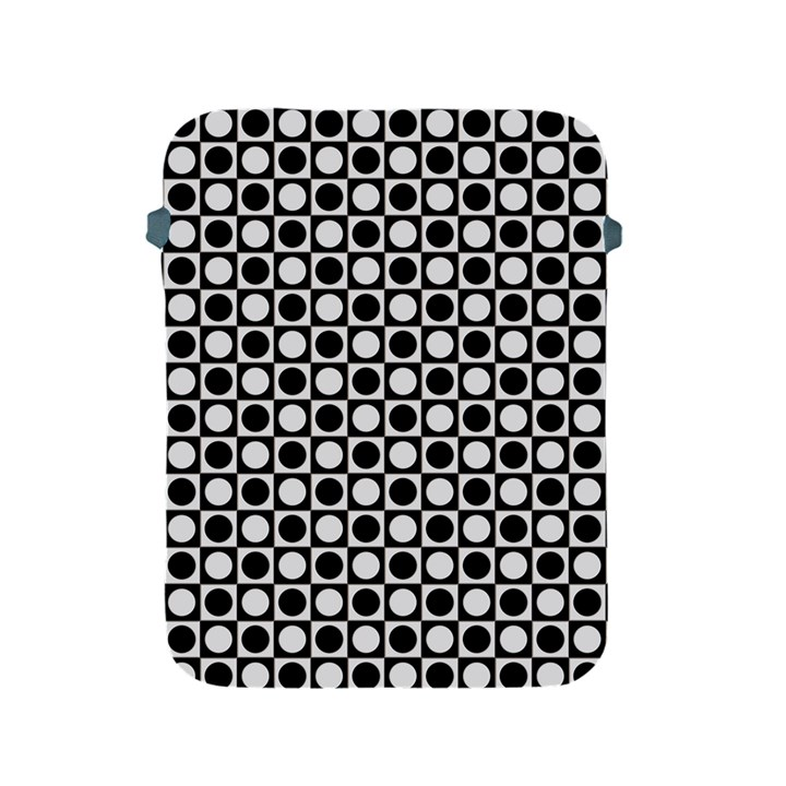 Modern Dots In Squares Mosaic Black White Apple iPad 2/3/4 Protective Soft Cases