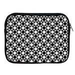 Modern Dots In Squares Mosaic Black White Apple iPad 2/3/4 Zipper Cases Front