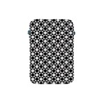 Modern Dots In Squares Mosaic Black White Apple iPad Mini Protective Soft Cases Front