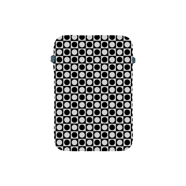Modern Dots In Squares Mosaic Black White Apple iPad Mini Protective Soft Cases