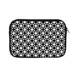 Modern Dots In Squares Mosaic Black White Apple iPad Mini Zipper Cases Front