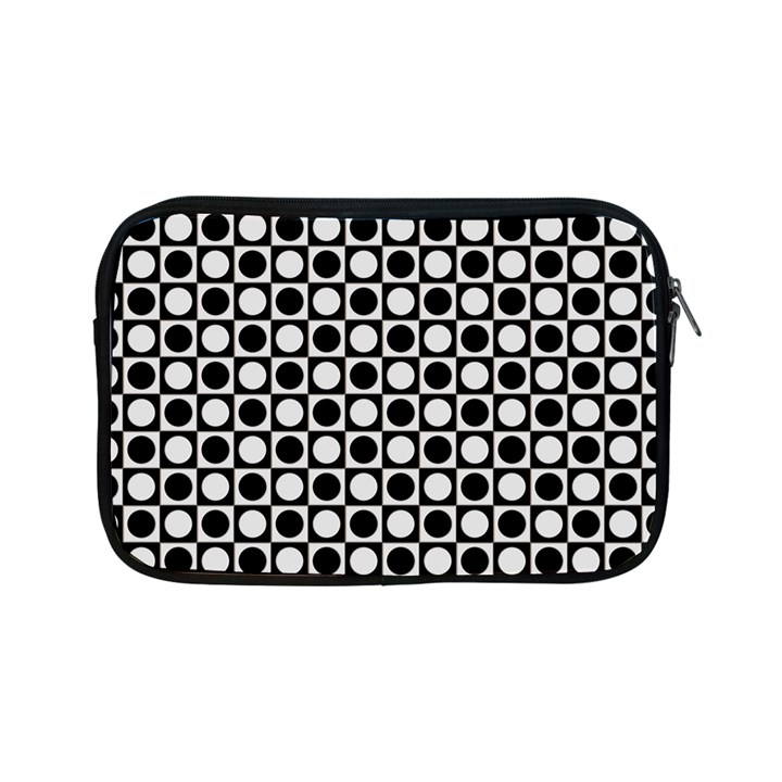 Modern Dots In Squares Mosaic Black White Apple iPad Mini Zipper Cases
