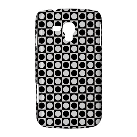 Modern Dots In Squares Mosaic Black White Samsung Galaxy Duos I8262 Hardshell Case