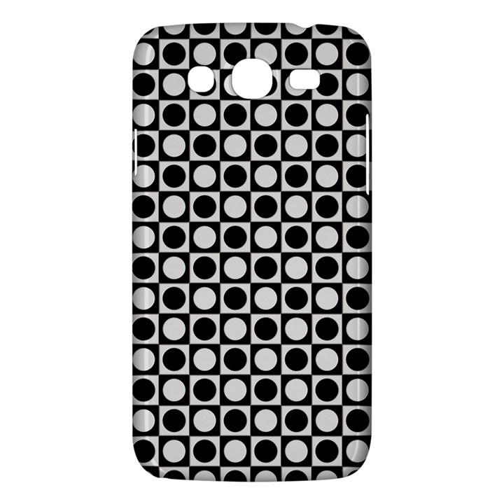 Modern Dots In Squares Mosaic Black White Samsung Galaxy Mega 5.8 I9152 Hardshell Case